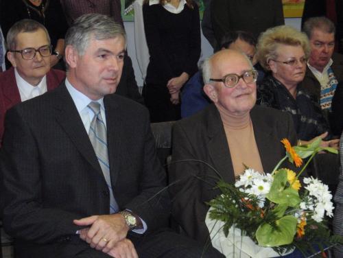 Libor Knězek (vpravo) s hejtmanem Jaroslavem Palasem v r. 2008